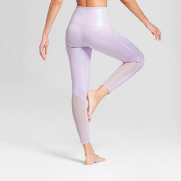 5535c925c0edc Joy Lab Pants - JoyLab high rise lavender shimmer 7 8 gym leggings